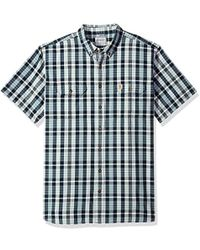 Carhartt - Big And Tall Fort Plaid Short Sleeve Shirt - Lyst