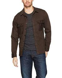 Billy Reid - Garment Dyed Selvedge Shirt Jacket - Lyst