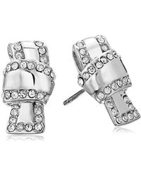 Kate Spade - Pave Knot Stud Earrings - Lyst