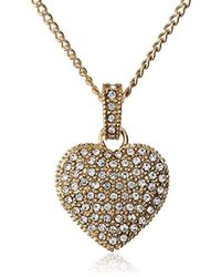 Judith Jack - Golden Class Sterling Silver And Gold-tone Crystal Marcasite Heart Pendant Necklace - Lyst