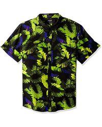 Guess - Short Sleeve Neon Palm 1 Pocket Shirt - Lyst