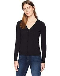 Lark & Ro - Buttoned Down V-neck Cardigan Sweater - Lyst