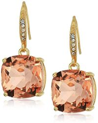T Tahari - Uptown Jewels Btgd Lpch Casted Fh Drop Earrings, Color Gold, One Size - Lyst