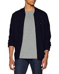 Tommy Hilfiger - Cotton Linen Textured Baseball Jacket Cardigan - Lyst