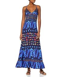 Desigual Vest_greta Dress - Blue