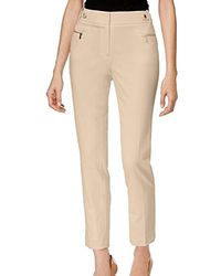 Calvin Klein - Slim Fit Dress Pant With Zipper Hardware - Lyst