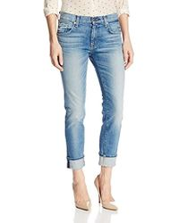 bc2262b9 7 For All Mankind - Relaxed Skinny Jean In Super Light Heritage Blue - Lyst