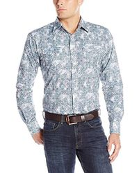 ef9419bf439 Lyst - Wrangler Big   Tall Retro Two Pocket Long Sleeve Snap Front ...