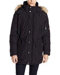 Pendleton - Denver Cotton-blend Down Anorak Jacket With Fur Trim - Lyst