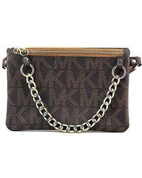 32aa65f8f675 Brown Mk Signature Fanny Pack Belt Bag