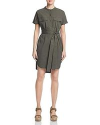 Theory - Short Sleeve Belted Cargo Button Down Dress - Lyst