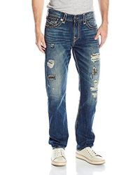 True Religion - Recruit Super T Geno Relaxed Slim With Flap Jean - Lyst