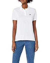 fb9dad33 Lacoste Women'S Cropped Polo Shirt in White - Lyst