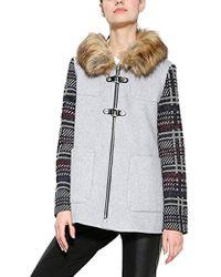 Desigual - Gerdi Women's Coat In Grey - Lyst