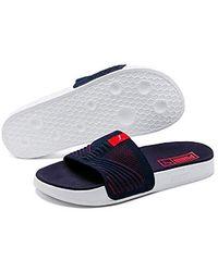 0a88059ef06d3c PUMA Unisex Adults' Leadcat Ts Beach & Pool Shoes in Blue for Men - Lyst