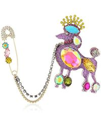 Betsey Johnson - S Multi Poodle Pin - Lyst