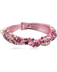 Betsey Johnson - S Pink Flamingo Hinge Bangle - Lyst
