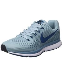 1feeface07a14 Nike Wmns Air Zoom Pegasus 34 Running Shoes in Gray - Lyst