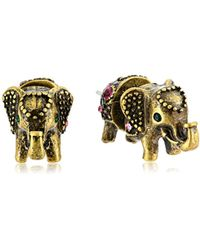 """Betsey Johnson - """"bj's Agerie"""" Elephant Front And Back Stud Earrings - Lyst"""