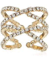 Guess - S Crisscross Pave Ring - Lyst