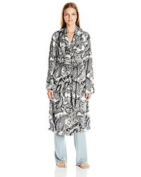 Ellen Tracy - Long Baby Fleece Komono Wrap Robe - Lyst