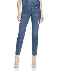 Lee Jeans - Petite Slimming Fit Rebound Straight Leg Pull On Jean - Lyst