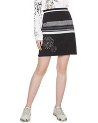 Desigual - Jana Women's Skirt In Black - Lyst