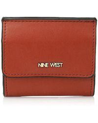 Lyst - Nine West Black   Camel Tri-Fold Wallet in Black bc000a6f32884