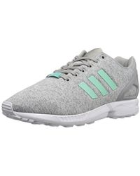 2de8e884e Lyst - adidas Originals Originals Black Zx Flux Jewel Trainers ...