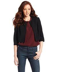 Anne Klein - Petite-size Jewel Neck Kiss Front Bolero Suit Jacket - Lyst