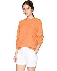 Lacoste - Sport Long Sleeve Fleece Crewneck Sweatshirt, Sf7975 - Lyst