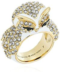 Kate Spade - Star Bright Owl Ring, Size 7 - Lyst