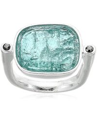 Kenneth Cole - Crackle Stone Ring, Size 7.5 - Lyst