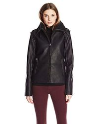 Madden Girl - Faux Shearling Bomber Jacket - Lyst