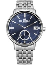 Ben Sherman - 'portobello Professional' Quartz And Stainless Steel Casual Watch, Color:silver-toned (model: Wb071usm) - Lyst