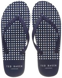 9c9ad367339be Ted Baker Flyxx Flip Flops in Blue for Men - Lyst