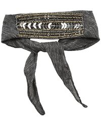 Steve Madden - Solid Bandana Choker With Sequins And Beads - Lyst