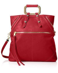 Cynthia Rowley - Abbey Convertible Tote, Red - Lyst
