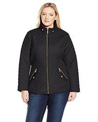 Ellen Tracy - Outerwear Plus-size Zip Font Quilt - Lyst