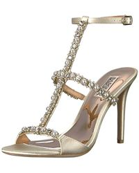 Yuliana Rhinestone Jeweled Metallic Suede Strappy Dress Sandals hr0Umv3