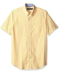 Nautica - Classic Fit Wrinkle Resistant Short Sleeve Empire Plaid Shirt - Lyst