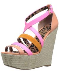 a81832dd5c4 Lyst - Jessica Simpson Jaylow Wedge Sandal in Pink