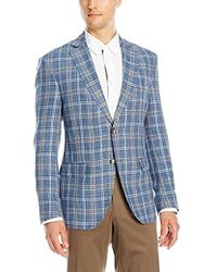 Franklin Tailored - Summer Delave Linen Windowpane Newton Sportcoat - Lyst