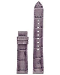 Michael Kors - Access Mkt9056 18mm Sofie Strap Leather Calfskin Purple Watch Strap - Lyst