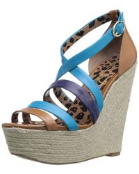 3b981ba1cf6 Lyst - Jessica Simpson Jaylow Wedge Sandal in Blue