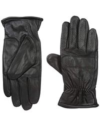 Fred Perry - Perforated Leather Gloves -s/m - Lyst