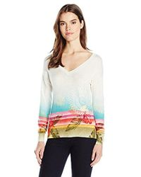 Desigual - Crater Flat Knitted Thin Gauge Pullover - Lyst