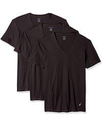 Nautica - Cotton V-neck T-shirts - 3 Pack (x60310) - Lyst
