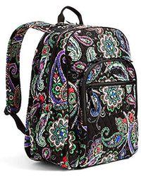 Vera Bradley - Campus Tech Backpack, Signature Cotton - Lyst