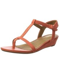 47c7b6a2f09 Clarks Parram Spice Gladiator Wedge Sandals in Metallic - Lyst